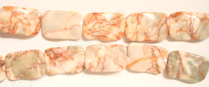 Red Picasso Jasper  -  Wave Flat Rectangle 16""