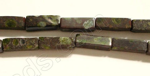 Green Spot Jasper  -  Cubiod Rectangle 16""