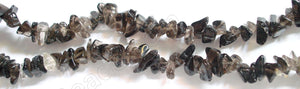 "Smoky Quartz (HK)   -  Chips  36""    8 - 10 mm   Dark"