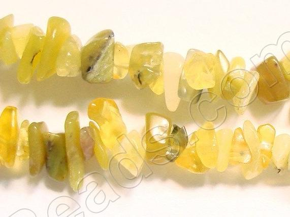 "Yellow Opal  -  Chips 36""    6 - 8 mm"