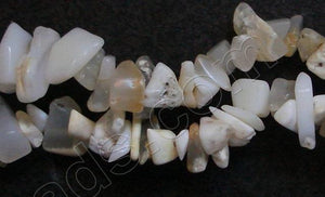 Africa White Opal  -  Chips 36""