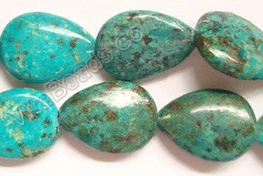Africa Turquoise - 25x35mm Puff Drops  16""