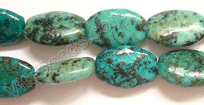 Africa Turquoise - 12x18mm Puff Drum  16""