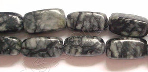 Matrix Jasper  Dark  -  Small Rectangle Nuggets  16""