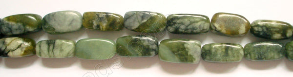 Matrix Jasper  Green -  Small Rectangle Nuggets  16""