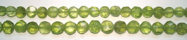 "Peridot  -  Faceted Coin  14""    5 mm"
