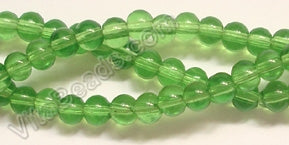 "Light Green Crystal Quartz  -  Smooth Round   14""      4 mm"