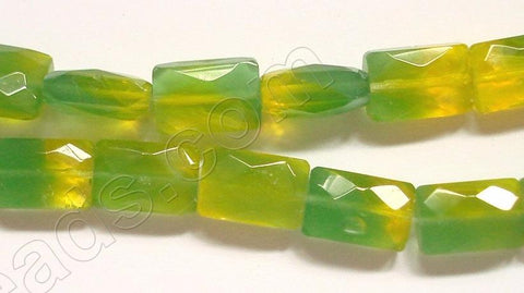 Yellow & Green Qtz  -  Faceted Rectangles  12""