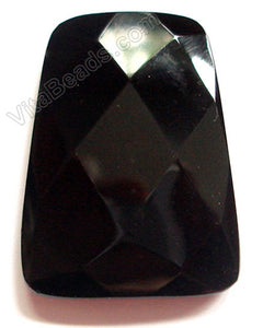 Faceted Pendant - Ladder Black Onyx 30x40mm