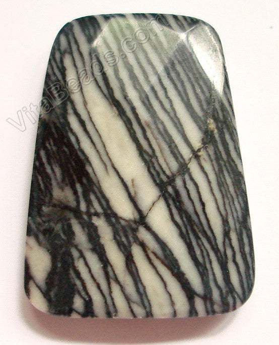 Matrix Jasper - 30x40mm Faceted Ladder Pendant