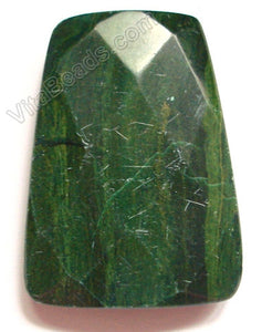 Africa Jade Dark - 30x40mm Faceted Ladder Pendant