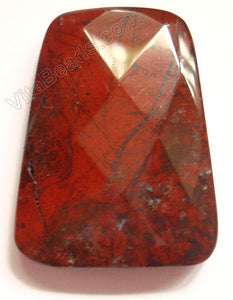 Poppy Jasper - 30x40mm Faceted Ladder Pendant
