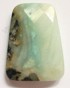 Black Golden Amazonite Light - 30x40mm Faceted Ladder Pendant