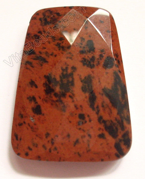Mahogany Obsidian - 30x40mm Faceted Ladder Pendant