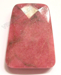 Rhodonite - 30x40mm Faceted Ladder Pendant