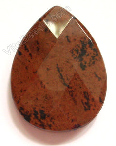 Mahogany Obsidian - Light - Faceted Pendant - Briolette