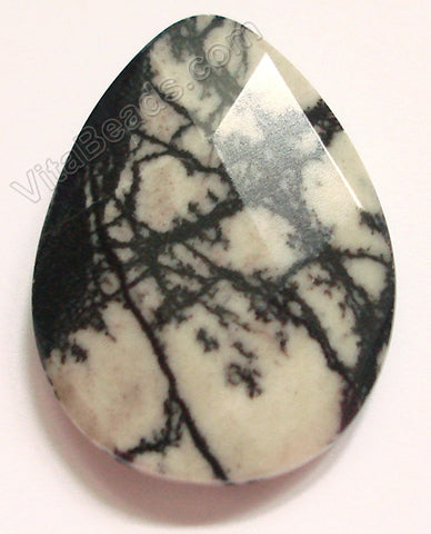 Matrix Jasper - Web - Faceted Pendant - Briolette