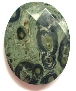 Kambaba Jasper - Faceted Oval Pendant