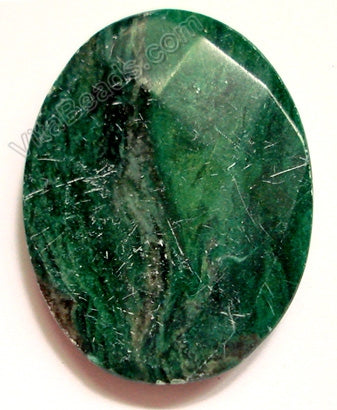Dark Africa Jade - Faceted Oval Pendant