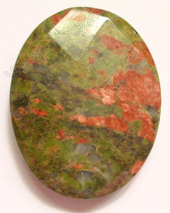 Unakite - Faceted Oval Pendant