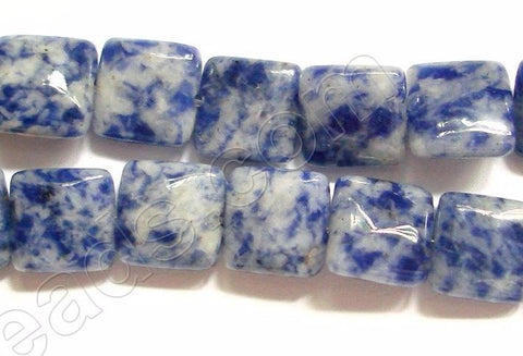 Blue Spot Stone  -  Puff Squares  16""