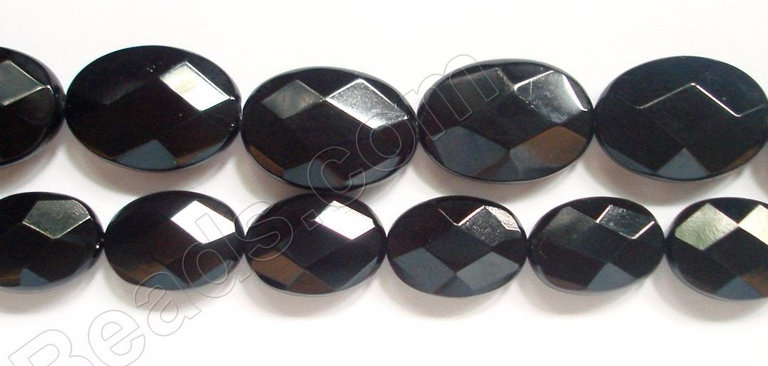 Black Onyx  -  Faceted Oval  16""