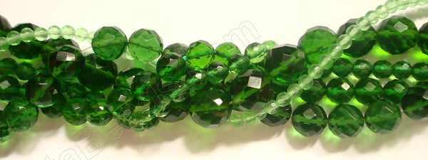 Green Crystal Quartz  -  Faceted Round   16""