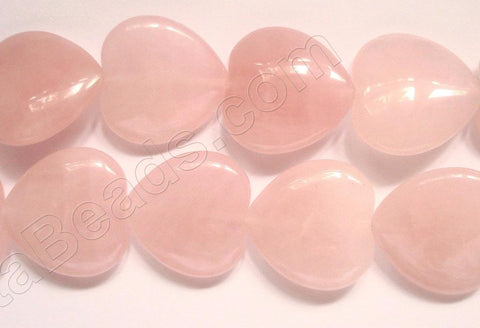 Rose Quartz A  -  Puff Heart  16""