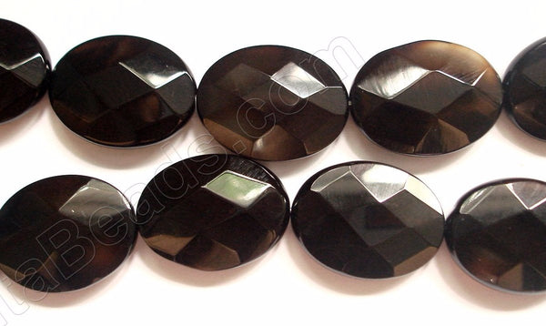 Black Onyx  (Natural) -  Faceted Oval  16""