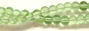 "Pale Green Crystal Quartz  -  Smooth Round   14""      4 mm"