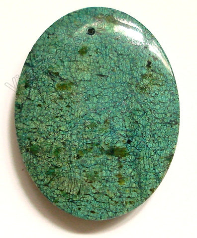 Pendant - Smooth Oval Chrysacolla