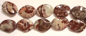 Picture Agate  -  Wave Flat Ovals  16""