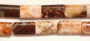 Red Conglomarite Jasper  -  Puff Thin Tube  16""