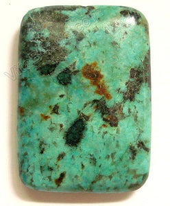 Africa Turquoise Pendant - 25x35mm Rectangle