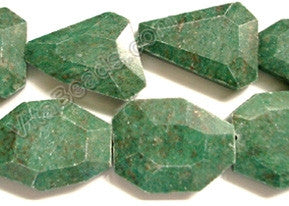 Africa Jade - Irregular Faceted Flat  16""