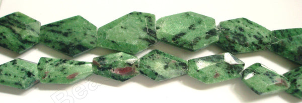 Ruby Zoisite -  Irregular Faceted Flat  16""