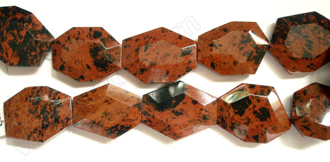 Mahogany Obsidian  -  Irregular Faceted Flat  16""