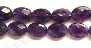 Amethyst (Dark) -  Faceted Oval  15""