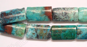 Chinese Chrysacolla  -  Puff Thin Tube  16""