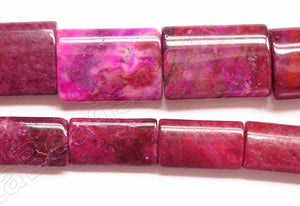 Fuchsia Brazilian Agate  -  Puff Thin Tube  16""