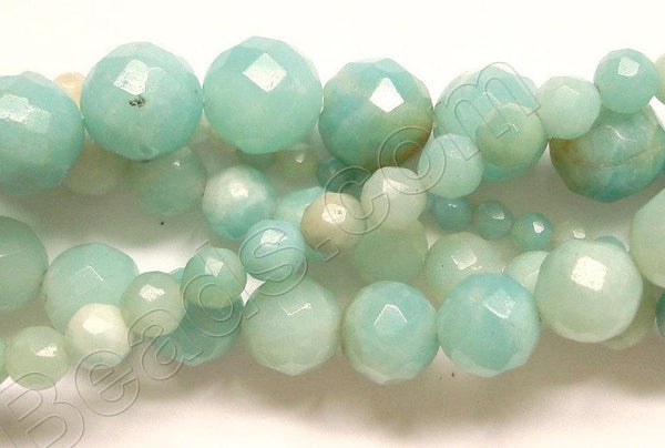 Amazonite AA  -  Faceted Round  16""