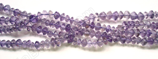 "Amethyst (Light)  -  Plain Button  14""    4-5mm"