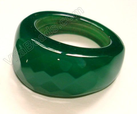 Green Onyx Ring Dark Emerald