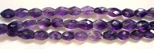 Amethyst Dark  -  7-10mm Faceted Oval  14.5""