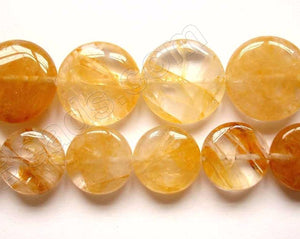 Chinese Citrine  -  Puff Coins  16""