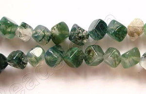 Moss Agate  -  Double Edge Square  16""