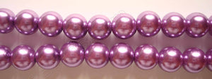 Glass Pearl   -  14  Dark Violet  -  Smooth Round  16""