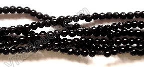 Black Onyx A  -  Small Smooth Round 16""
