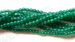"Green Onyx AAA  -  Small Smooth Round 16""    2mm"