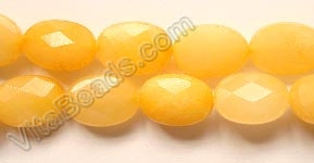 Yellow Jade  -  Faceted Oval  16""